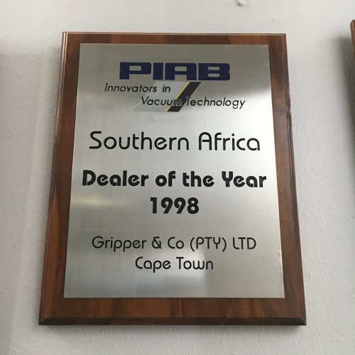 gripper piab award